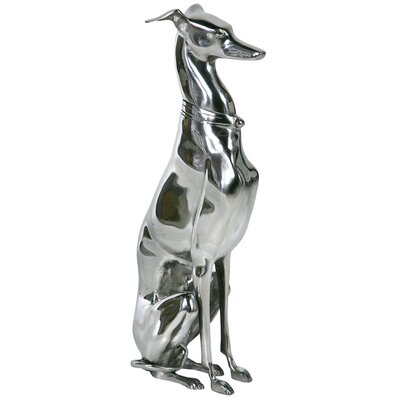 DUSX Aluminium Greyhound Dog Statue