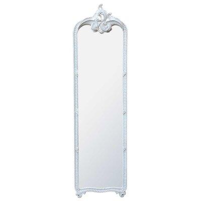 DUSX Floor Standing Hand Carved Wooden Mirror