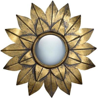 DUSX Metal Framed Sunburst Flower Mirror