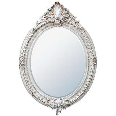 DUSX French Rococo Oval Beveled Mirror