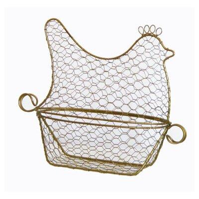 DUSX Single Iron Hen Shaped Egg Basket