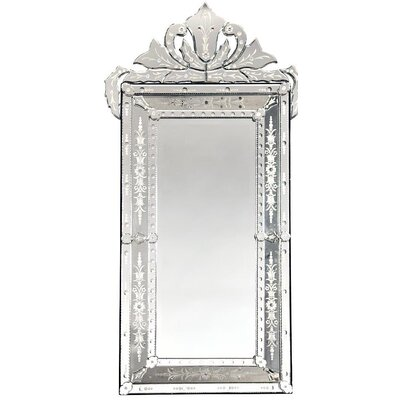 DUSX Venetian Vintage Mirror with Crown and Etching
