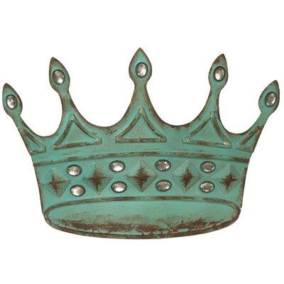 DUSX Vintage Metal Crown with Diamantes Sculpture