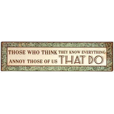 DUSX Vintage Proverb Typography Plaque