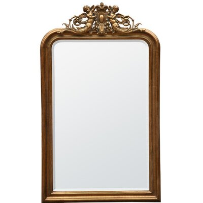 DUSX French Rococo Cherubim Beveled Mirror