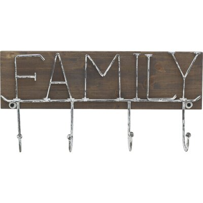 Sentiment Wall Mounted Coat Rack