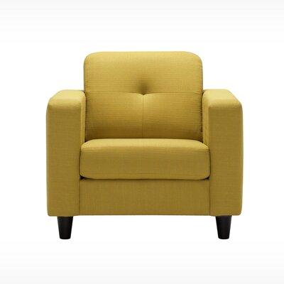 Solo Armchair Body Fabric: Key Largo Pumice, Leg Color: Onyx Angled Cylinder