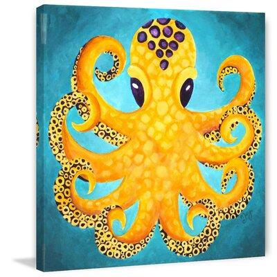 "'Yellow Octopus' by Nicola Joyner Painting Print Canvas Art Size: 40"" H x 40"" W"