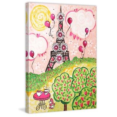 "'Paris in Pink' by Nicola Joyner Painting Print Canvas Art Size: 60"" H x 40"" W"