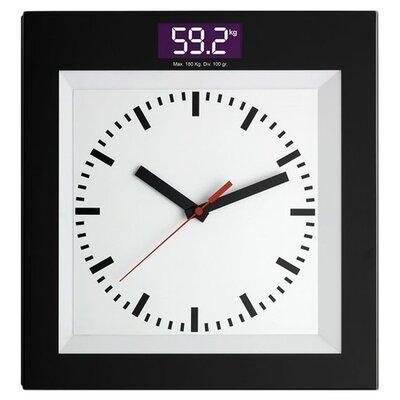 Green Wash Bathroom Scale with Clock