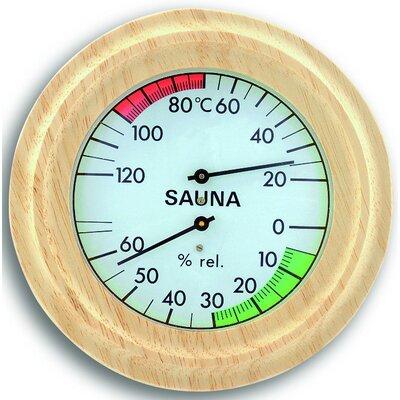 Green Wash Sauna Thermometer and Hygrometer