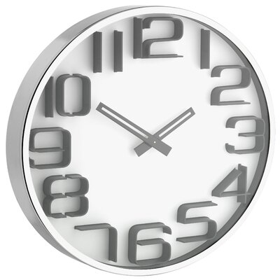 Green Wash 30 cm Wall Clock with 3D Numerals