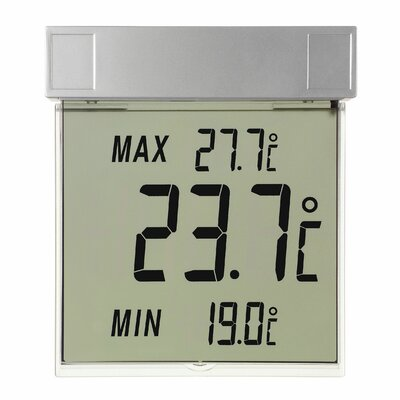 Green Wash Vision Digital Window Thermometer