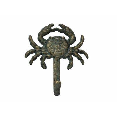 Beata Cast Iron Wall Mounted Wall Hook Color: Rustic Verdigris Bronze