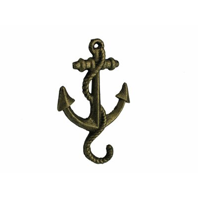 Cast Iron Wall Hook Color: Rustic Gold