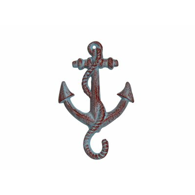 Cast Iron Wall Hook Color: Rustic Red Whitewashed