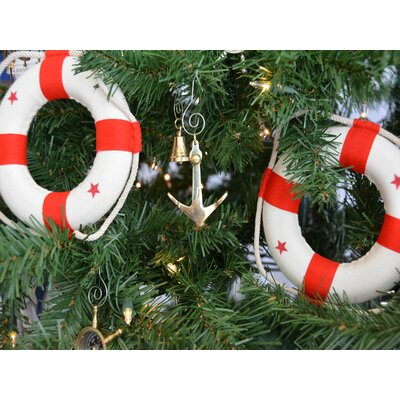 Admiralty Brass Anchor Christmas Tree Ornament
