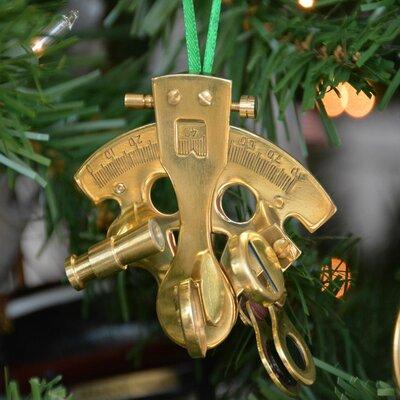 Brass Nautical Sextant Christmas Tree Ornament