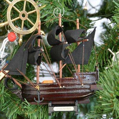 Caribbean Pirate Ship Christmas Tree Ornament