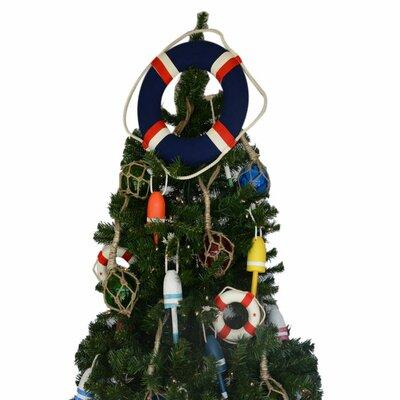 Blue Jacket Lifering Christmas Tree Topper Decoration
