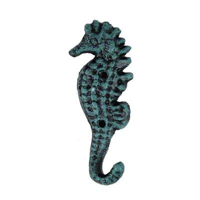 Galla Seahorse Wall Hook Color: Sea-worn Blue