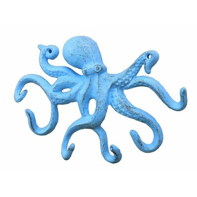 Rustic Octopus Hook Finish: Light Blue