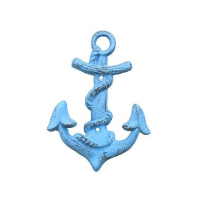 Anchor Wall Hook Color: Blue