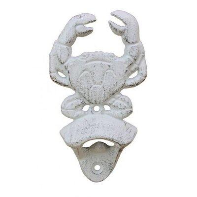 Crab Bottle Opener Finish: Whitewashed