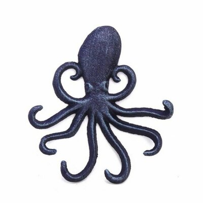Rustic Octopus Hook Finish: Dark Blue