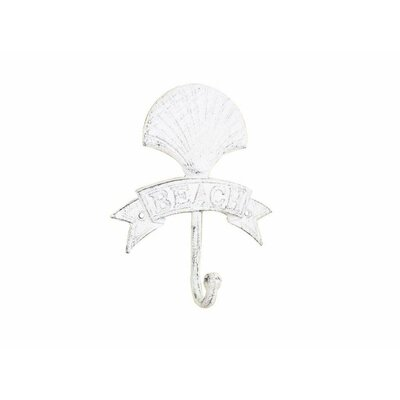 Chasta Seashell Beach Wall Hook Finish: Whitewashed