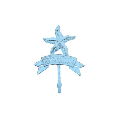 Sharlyn Starfish Beach Wall Hook Finish: Rustic Light Blue