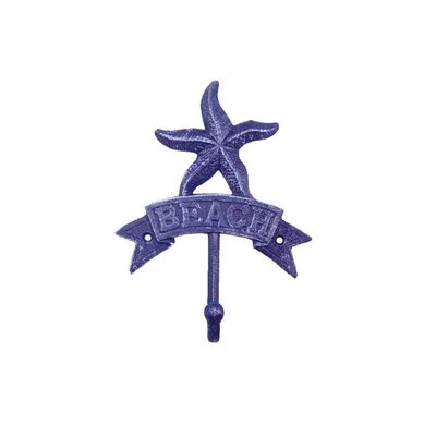 Sharlyn Starfish Beach Wall Hook Finish: Rustic Dark Blue