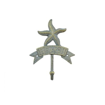 Sharlyn Starfish Beach Wall Hook Finish: Antique Seaworn Bronze