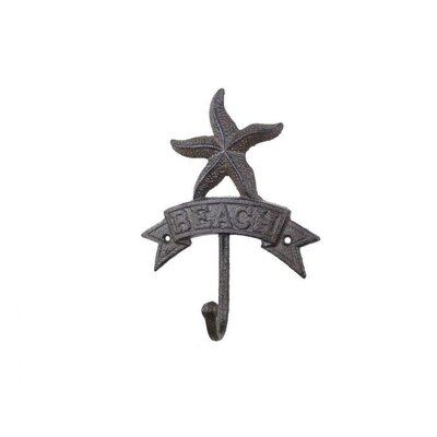 Sharlyn Starfish Beach Wall Hook Finish: Black