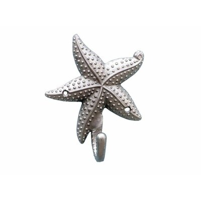 Ophelie Starfish Wall Hook Finish: Brushed Nickel