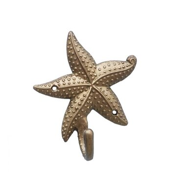 Ophelie Starfish Wall Hook Finish: Antique Brass