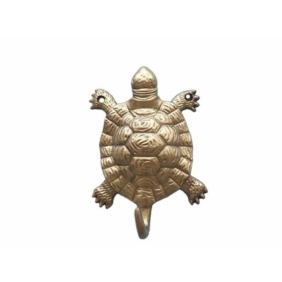 Reggie Turtle Wall Hook Finish: Antique Brass