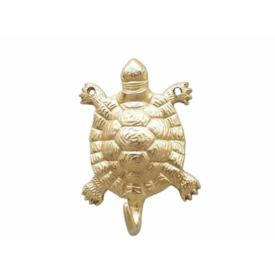 Reggie Turtle Wall Hook Finish: Brass