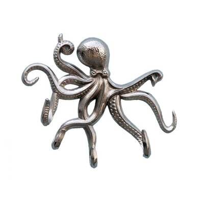 Jessy Octopus Tentacle Wall Hook Finish: Chrome