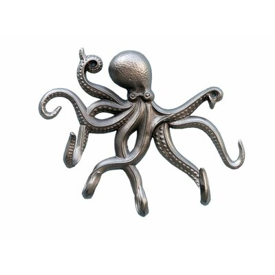 Jessy Octopus Tentacle Wall Hook Finish: Brushed Nickel