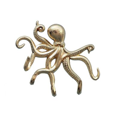 Jessy Octopus Tentacle Wall Hook Finish: Brass