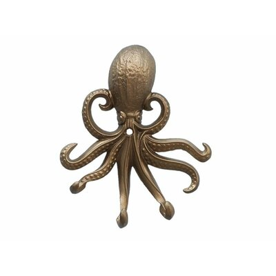 Keven Octopus Wall Hook Finish: Antique Brass