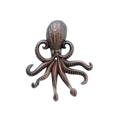 Keven Octopus Wall Hook Finish: Antique Copper