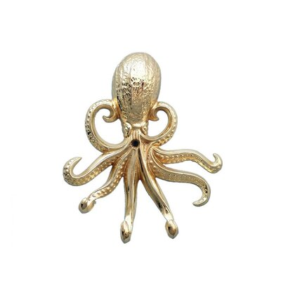 Keven Octopus Wall Hook Finish: Brass