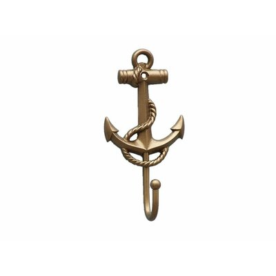 Withams Anchor and Rope Wall Hook Color: Antique Brass