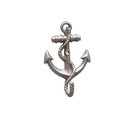 Westbury Anchor with Rope Wall Hook Color: Brushed Nickel