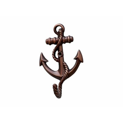 Westbury Anchor with Rope Wall Hook Color: Antique Copper