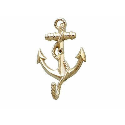 Westbury Anchor with Rope Wall Hook Color: Brass