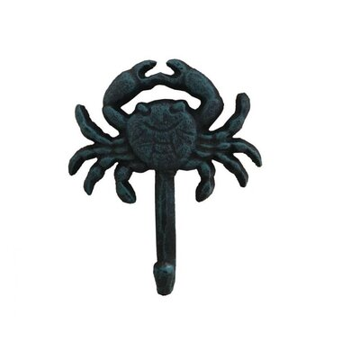 Jonette Crab Wall Hook Finish: Seaworn Blue