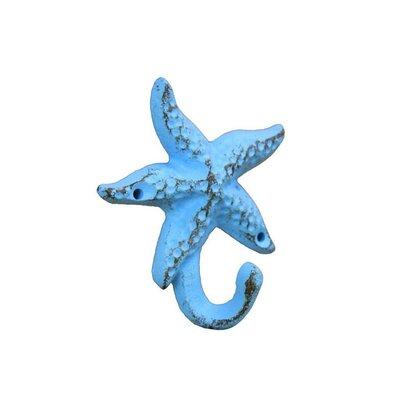 Janmarie Starfish Wall Hook Finish: Light Blue